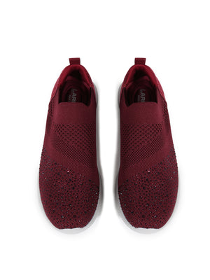 Larrie Red Glitter Coated Fashion Sneakers
