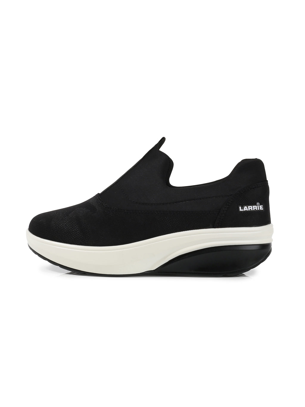 Larrie Black Durable Extra Cushion Sneakers
