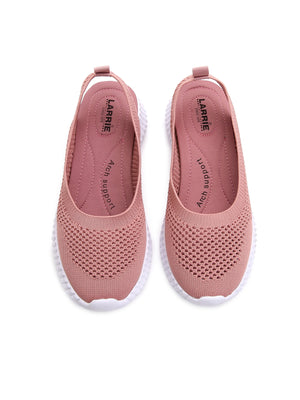 Larrie Women Pink Interlaced Upper Sporty Sneakers