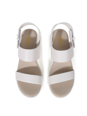 Larrie White Stylish Touch Vogue Heeled Sandals