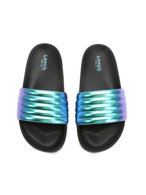 Larrie Purple Super Sporty Comfy Sandals