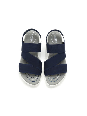 Larrie Navy Elastically Strap Lifestyle Casual Sandals