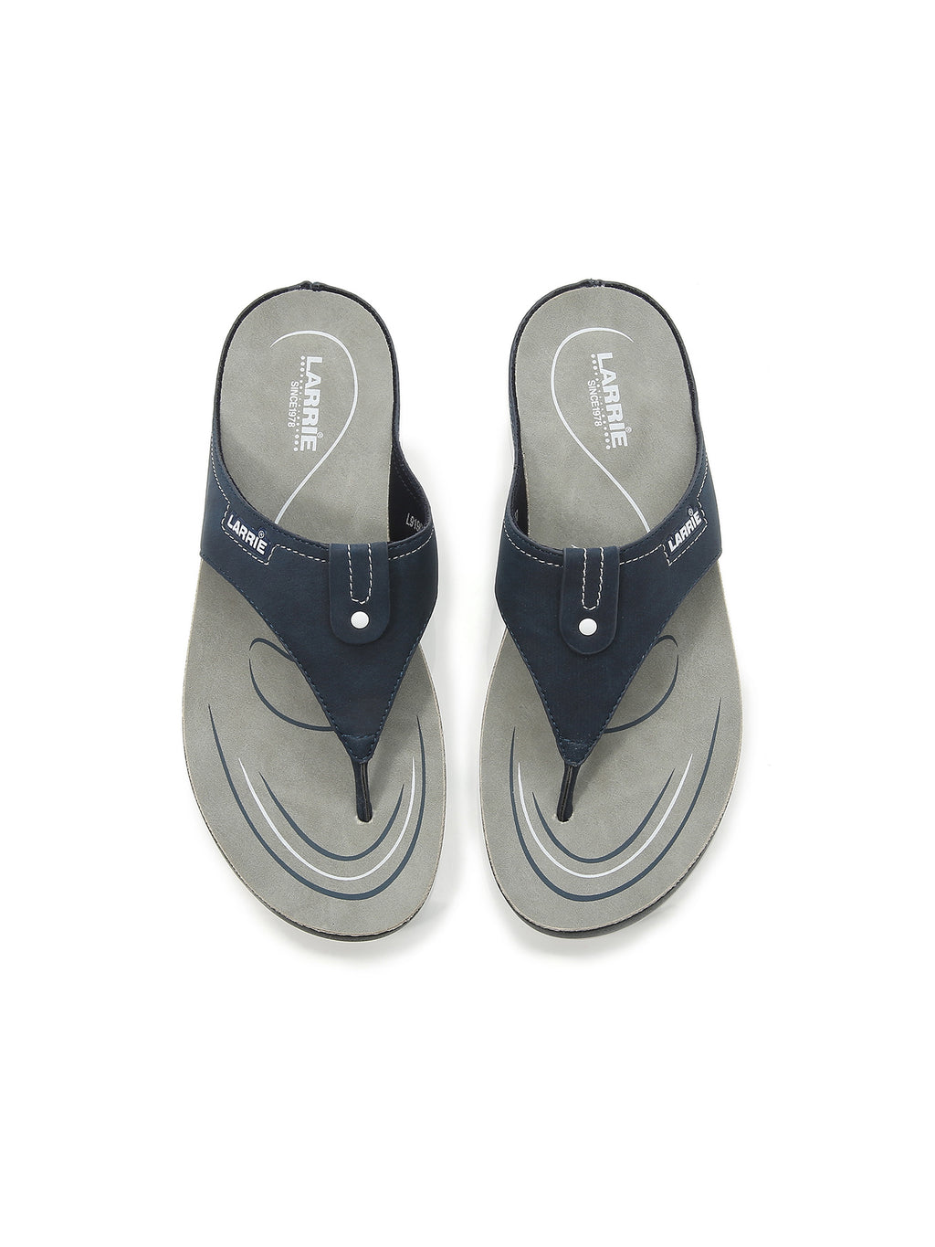 Larrie Navy Refined Casual Sporty Sandals