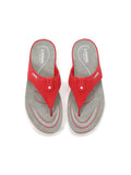 Larrie Red Refined Casual Sporty Sandals