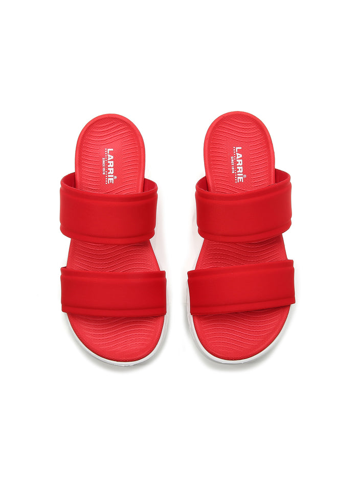 Larrie Red Elegance Sporty Sandals