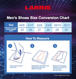 LARRIE Men Black Smart Line Lace Up Sneakers