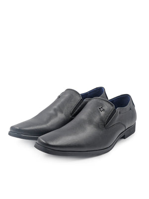 LR Larrie Black Detailed Business Shoes