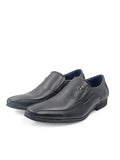 LR Larrie Black Lined Business Shoes