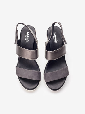 Larrie Women Silver Feminine Comfortable Sandals
