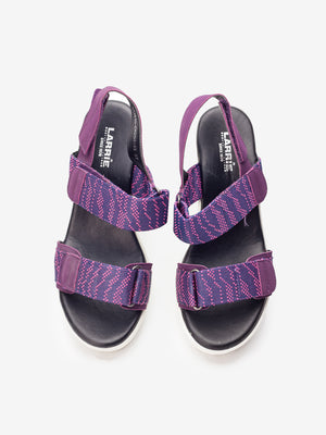 Larrie Women Purple Stylish Casual Heel Sandals