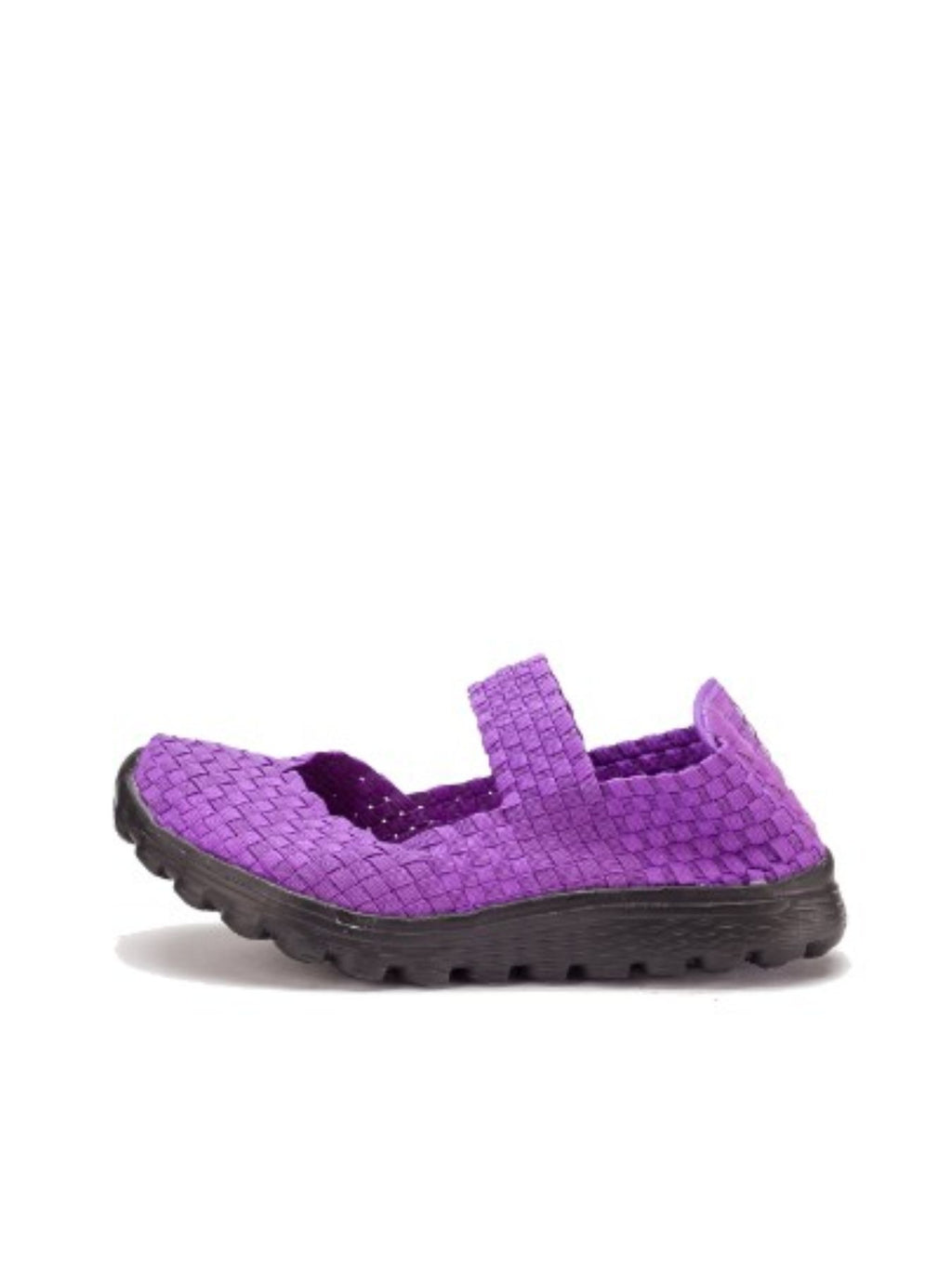 Larrie Purple Sporty Woven Sneakers