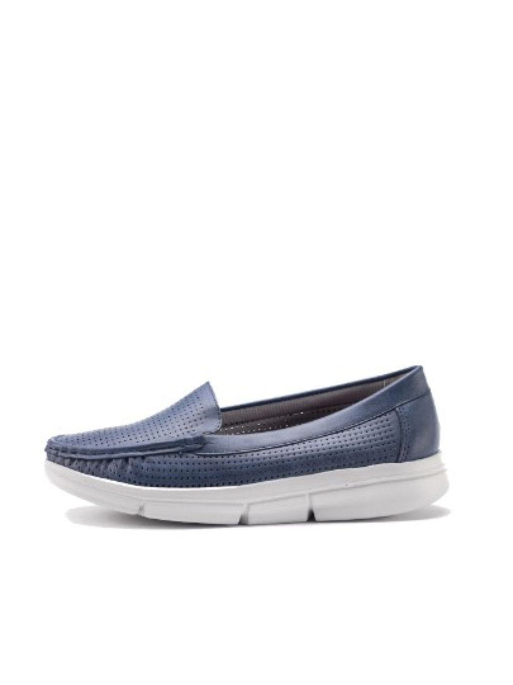 Larrie Blue Clean-Cut Comfortable Casual Flats