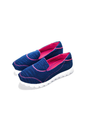 Larrie Navy Fashionable Casual Sport Flats