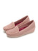 Larrie Pink Low Basic Loafer Wedges