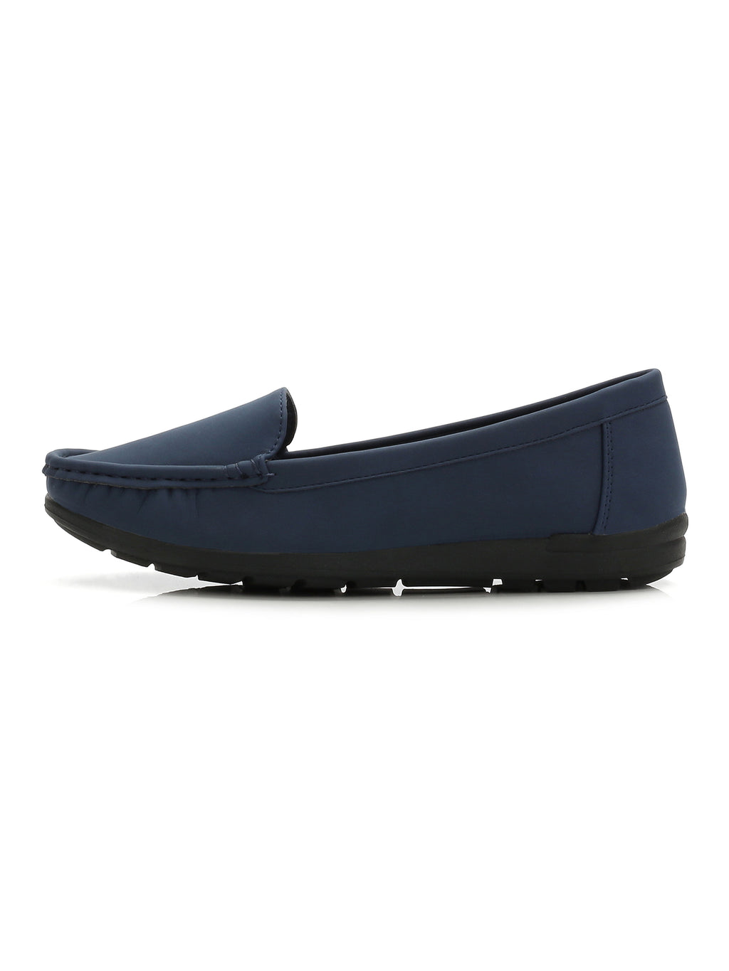 Larrie Navy Casual Basic Loafer Flats