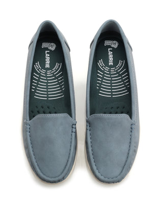 Larrie Blue Casual Basic Loafer Flats