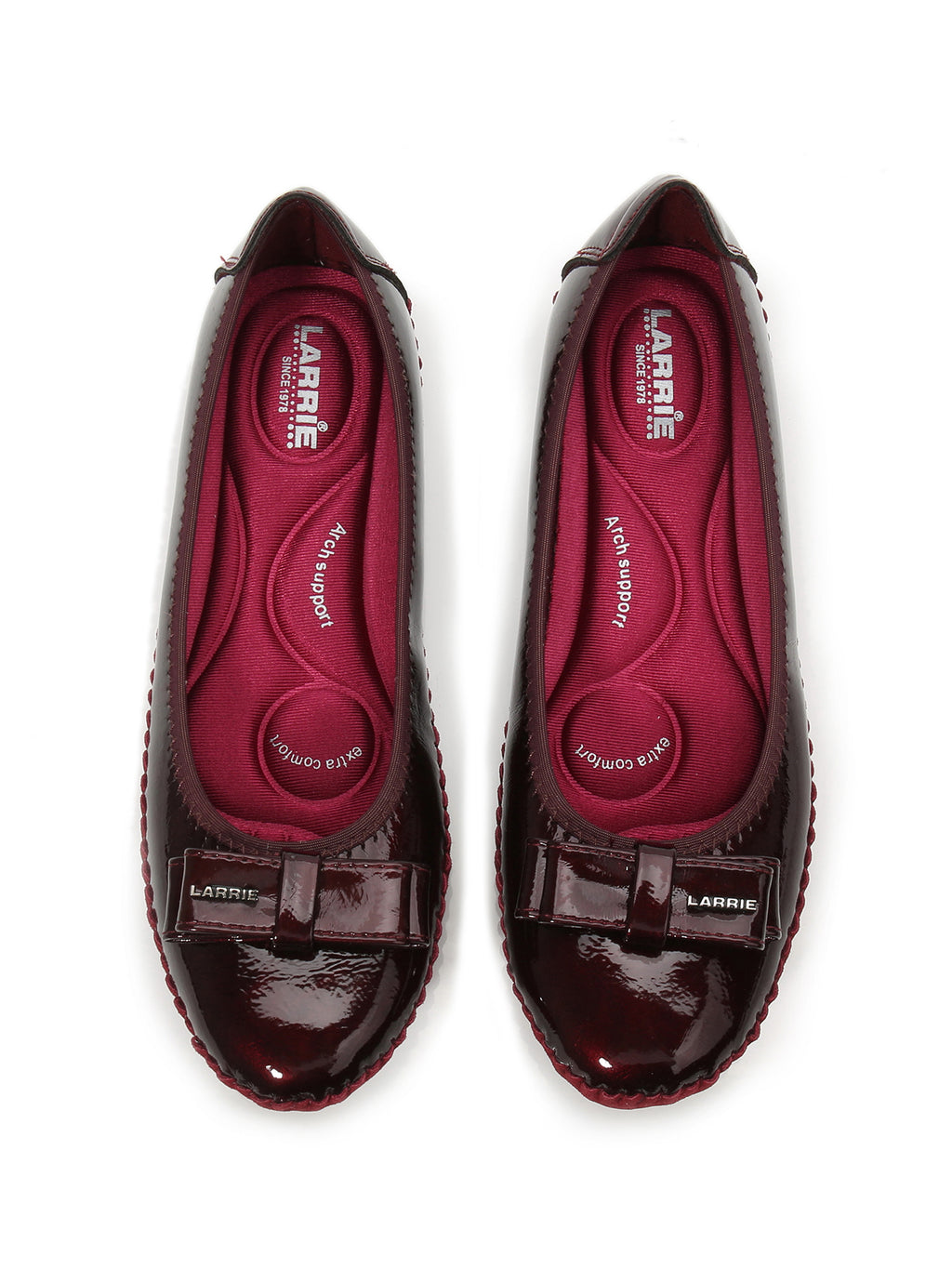 Larrie Red Simplicity Comfortable Ballerinas Flats L41901-WS01SV-2-RED