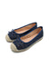 Larrie Women Navy Laser Cut Casual Basic Flats