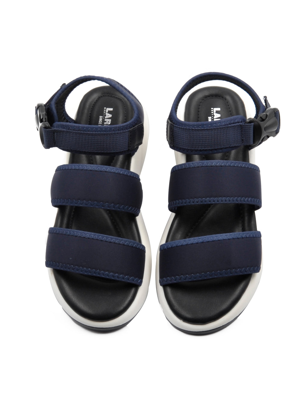 Larrie Navy Stylist Adjustable Buckle Comfortable Sandals