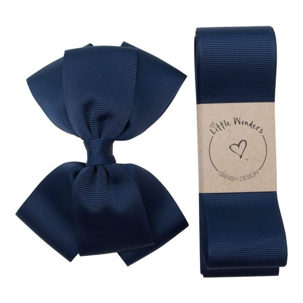 Little Wonders - dåbsbånd inkl sløjfe - navy grosgrain