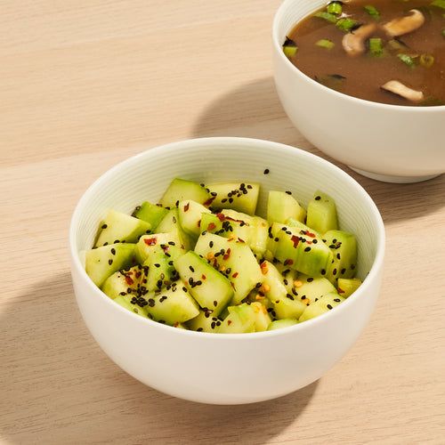 Perfect Pairings: Cucumber Salad and Mushroom Miso Soup