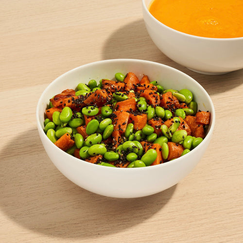 Perfect Pairings: Roasted Carrot & Edamame Salad and Carrot & Ginger Soup