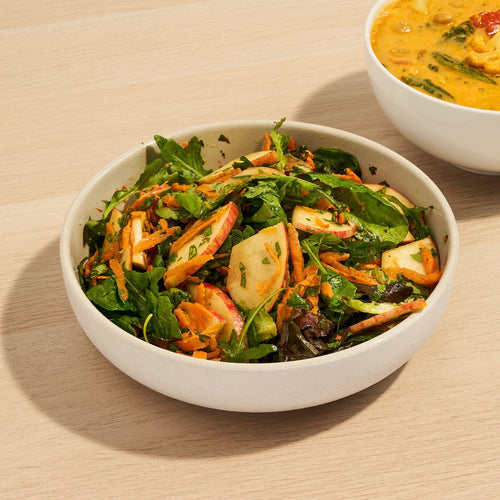 Perfect Pairings: This Bright Leafy Green Salad and Curry Cauliflower & Chickpea Soup