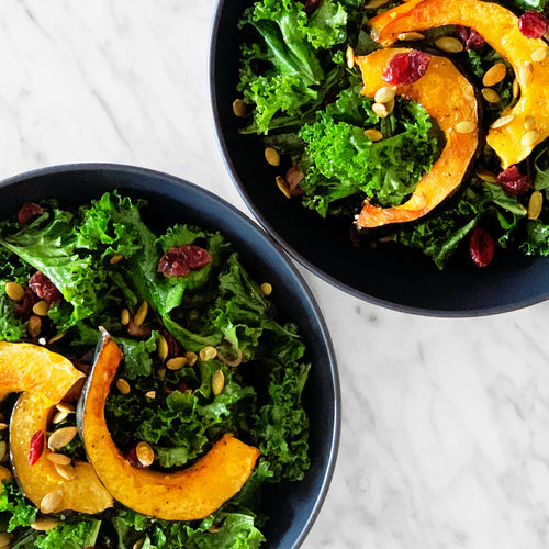 Roasted Acorn Squash & Kale