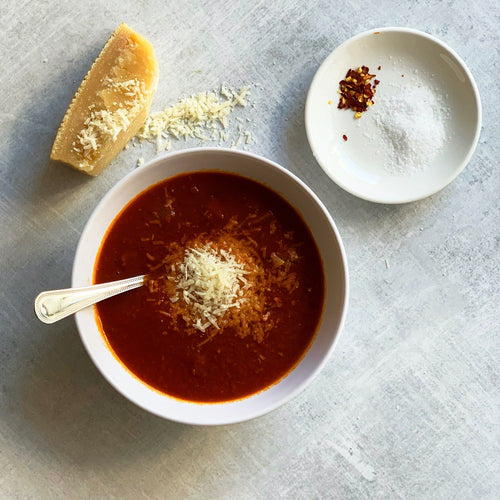 Roasted Tomato Soup all'Amatriciana