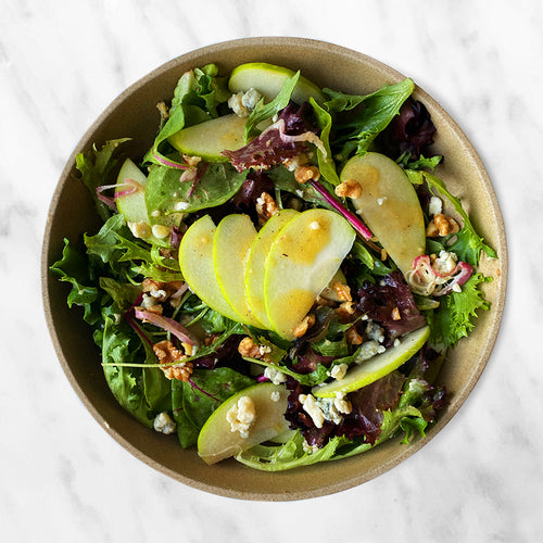 Sliced Apple & Mixed Greens Salad