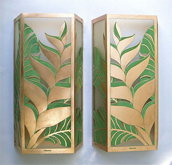 Hawaiian Heliconia Sconces 17""