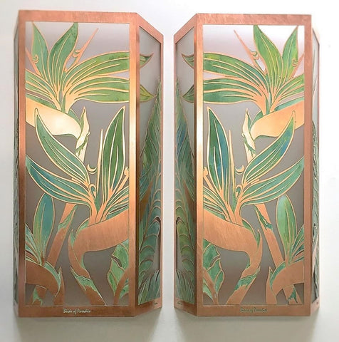 Bird of Paradise Sconces