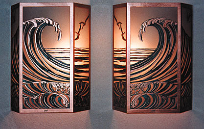 Hawaiian Surf Sconces 12""