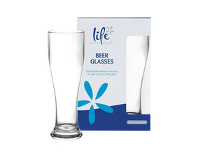 Life Beer Glasses Pack of 2 - Shatter Proof