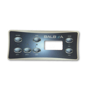 Balboa VL701S E8 Serial Standard Touchpad and 2 pump + Blower Overlay