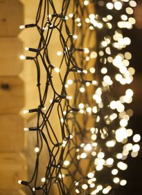 250 LED solar String lights white