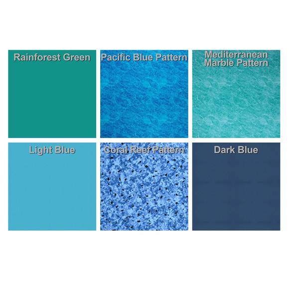 Blue Haven 18 Ft Wide Kidney Shaped Above Ground Pool Liner