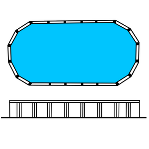 Lindeman 4' Oval pool 25 x 10 (7.75 x 3.15m)