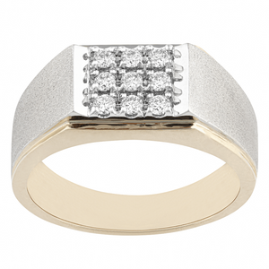 10KT TWO-TONE GOLD 0.33CTTW DIAMOND DINNER RING