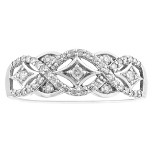 10KT WHITE GOLD 0.33CTTW DIAMOND RING