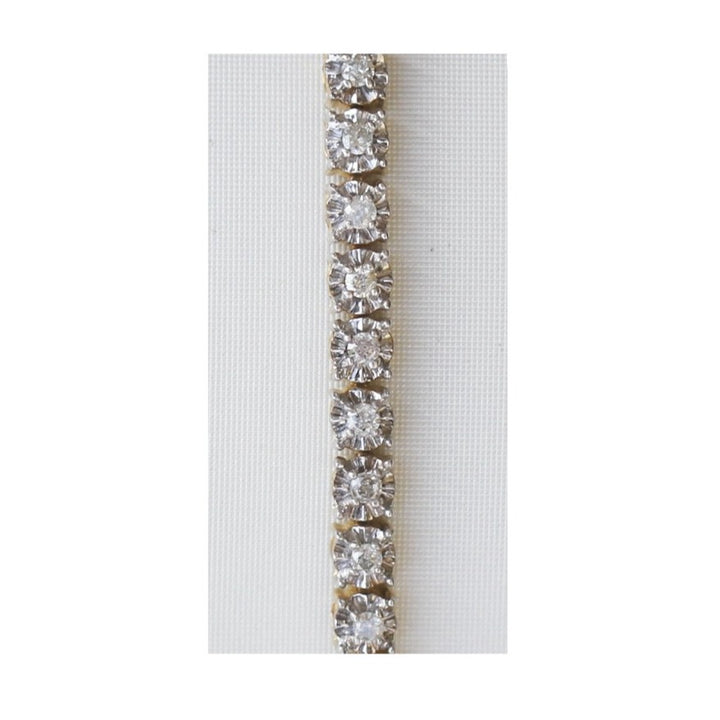 10kt White And Yellow Gold 1.00cttw Diamond Tennis Bracelet