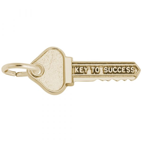 10kt Yellow Gold Key To Success Charm
