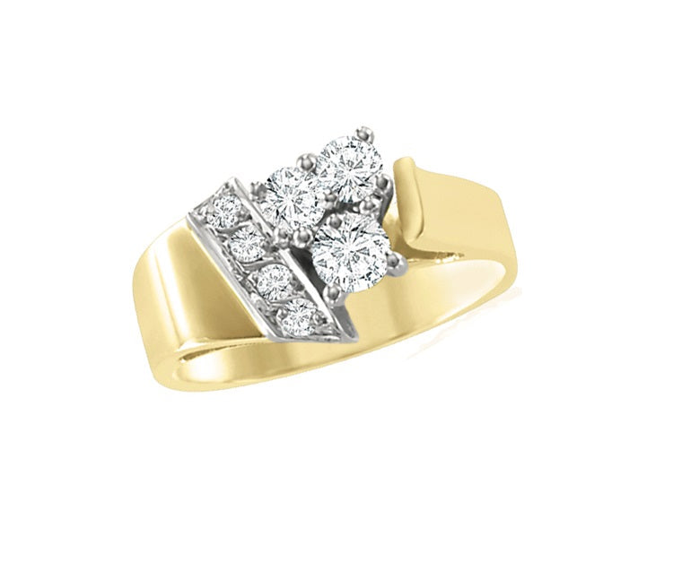 10kt Yellow Gold 0.33cttw Diamond Ring