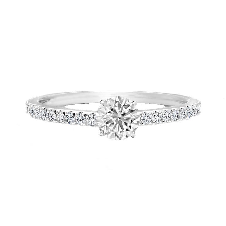 14kt White Gold 0.77cttw Certified Engagement Ring