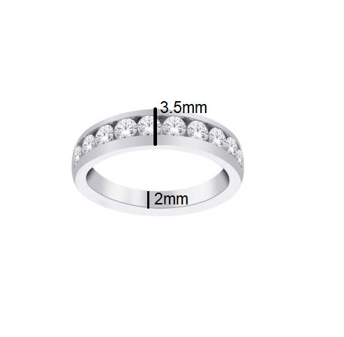 14kt White Gold 0.25cttw Diamond Wedding Band