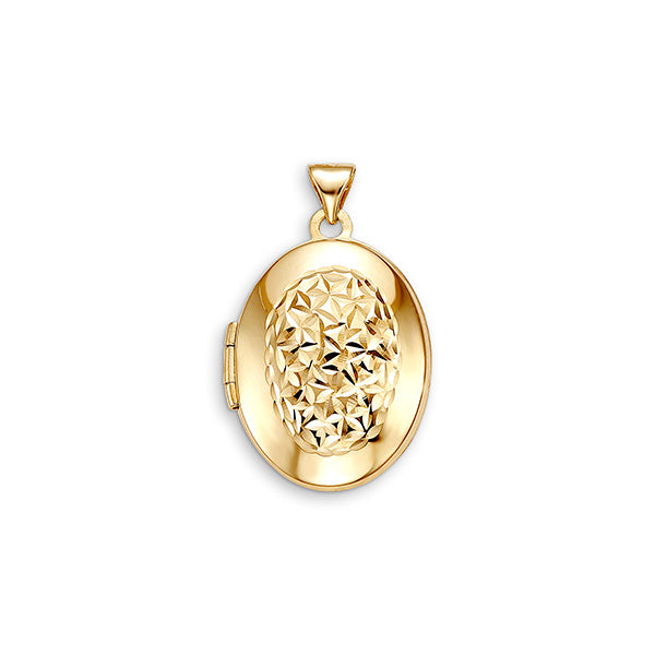 10kt Yellow Gold Oval Locket