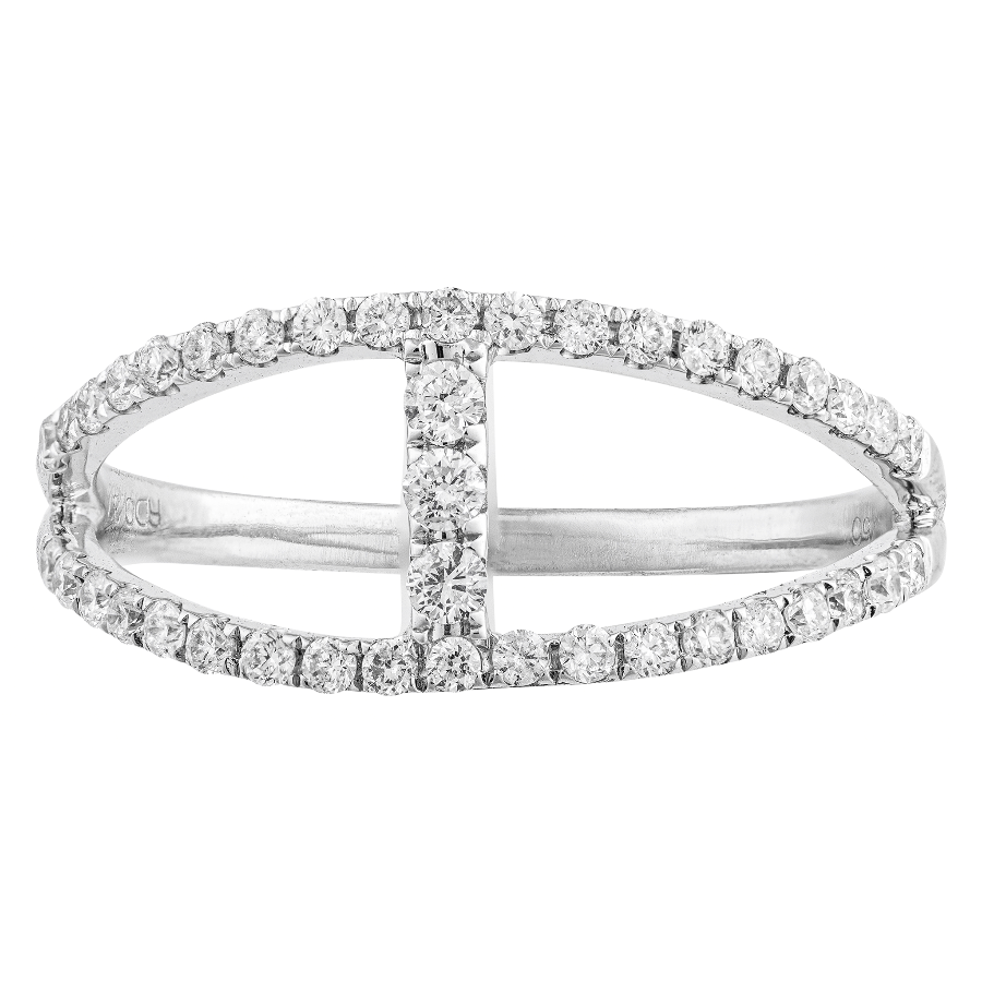 18KT WHITE GOLD 0.37CTTW DIAMOND RING