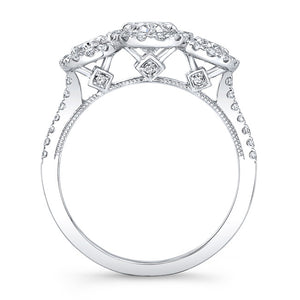 14kt White Gold 1.58cttw Oval Halo Ring