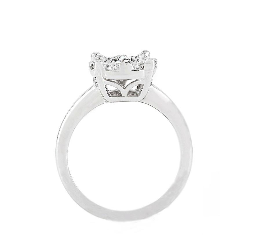 14kt White Gold 0.70cttw Engagement Ring