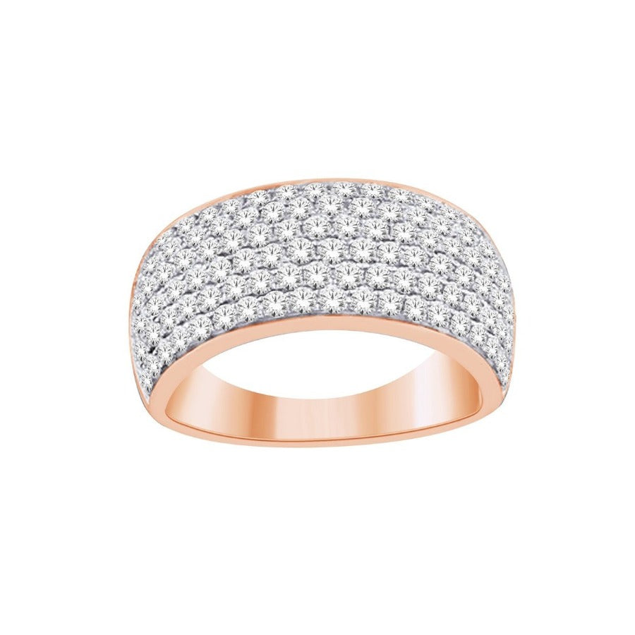14KT ROSE GOLD 2.00CTTW PAVE DIAMOND RING